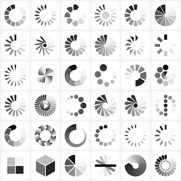 ilustrações de stock, clip art, desenhos animados e ícones de conjunto de indicadores de carga - inteiro