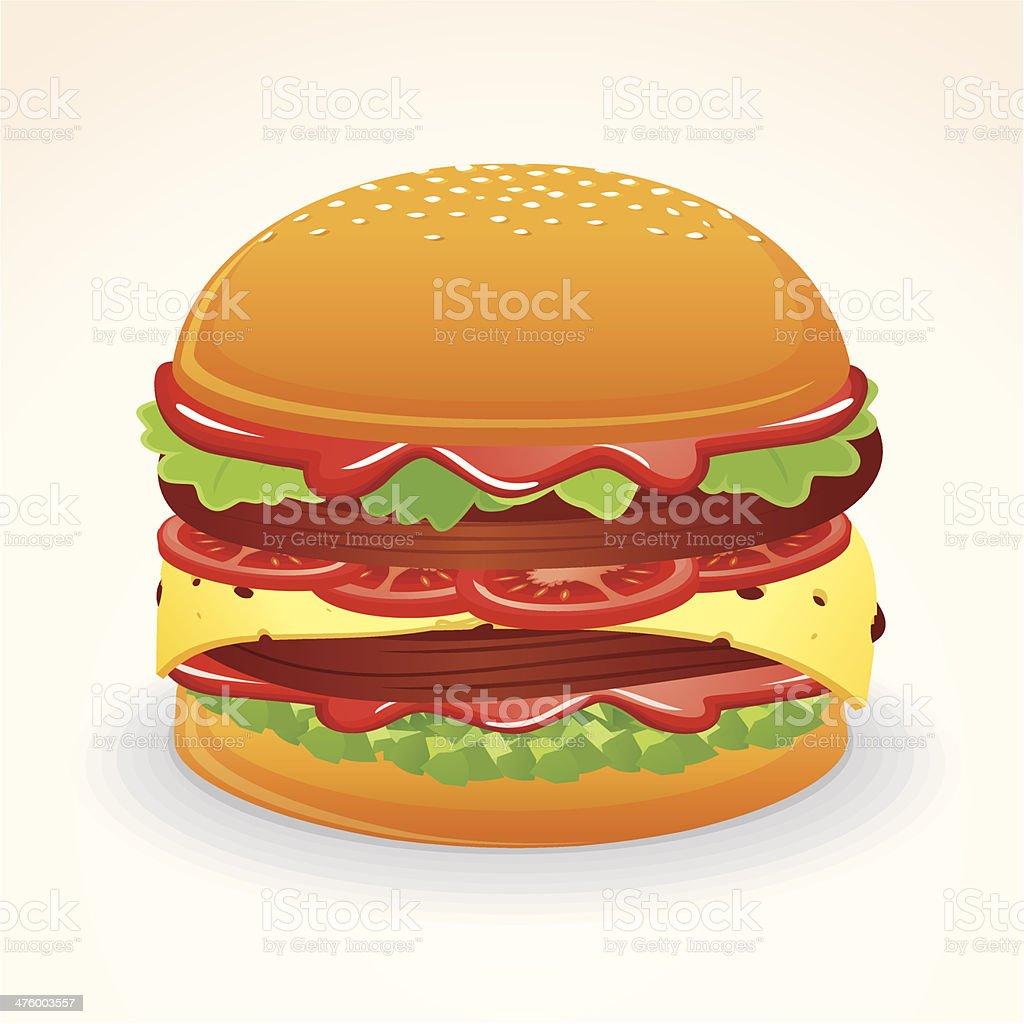 Loaded Hamburger royalty-free stock vector art