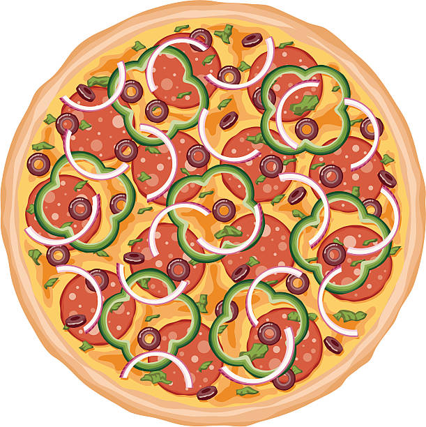 装填のピザ - ピザ点のイラスト素材/クリップアート素材/マンガ素材/アイコン素材
