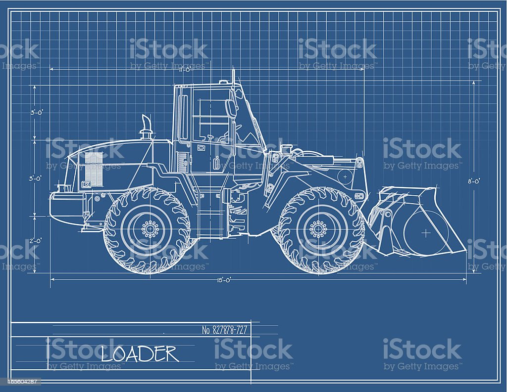 Loader Blueprint royalty-free stock vector art