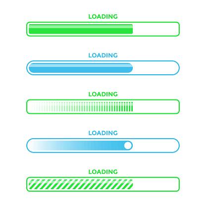 Loading Bar Progress Icon Set Vector Design.