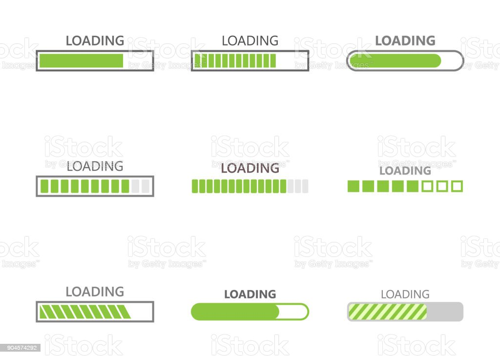 loading bar progress icons vector art illustration