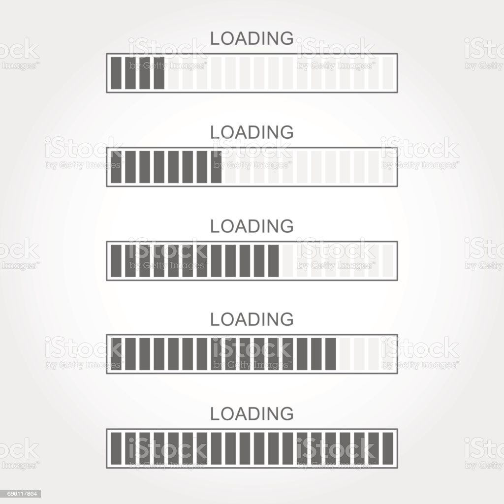 Loading bar vector art illustration