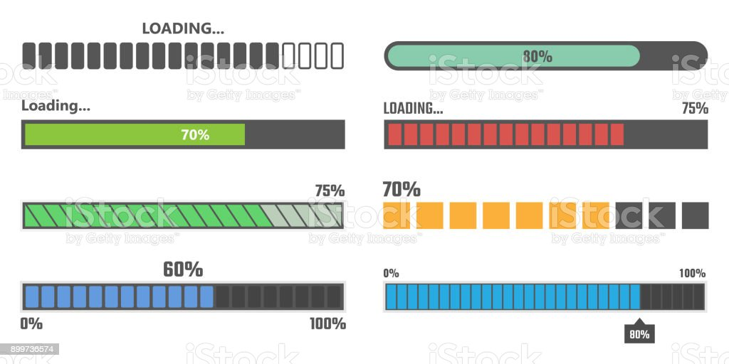 loading bar vector vector art illustration