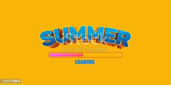 istock Loading bar with summer text. 1221218924