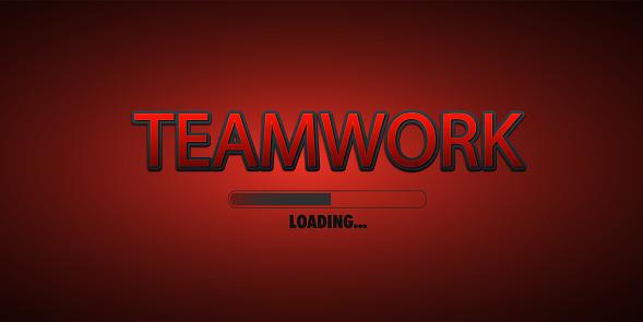Loading bar with teamwork text.