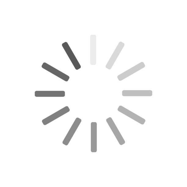Loading circle icon. Progress loading vector icon. Update icon Loading circle icon. Progress loading vector icon. Update icon loading stock illustrations