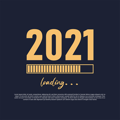 2021 Loading Concept With A Progress Bar Vector.