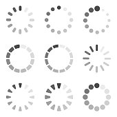 Loading icon collection. Vector