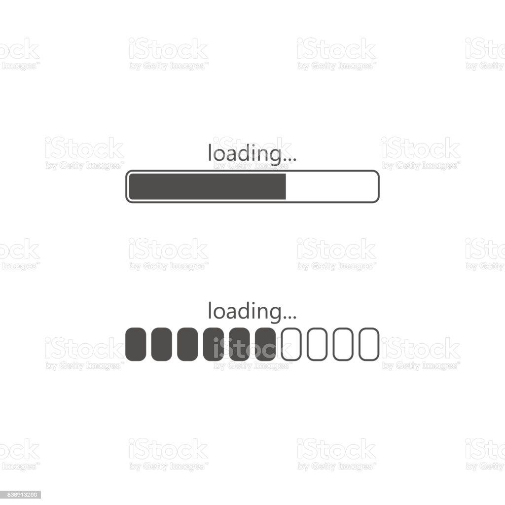 Loading icon, isolated on white background vector art illustration