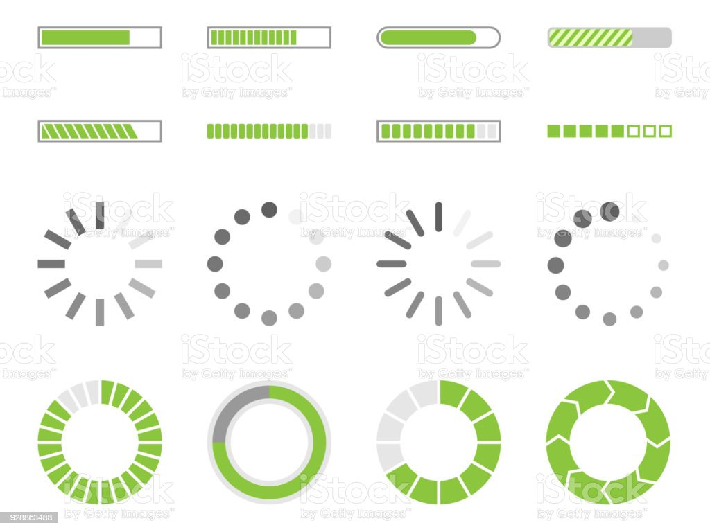loading icons, load indicator sign royalty-free loading icons load indicator sign stock illustration - download image now