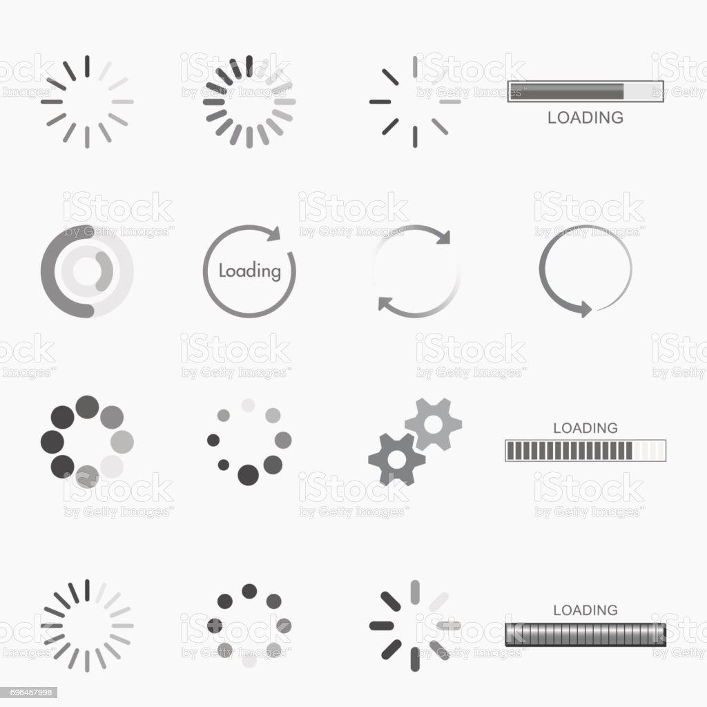 carregamento de ícones - ilustração de arte em vetor