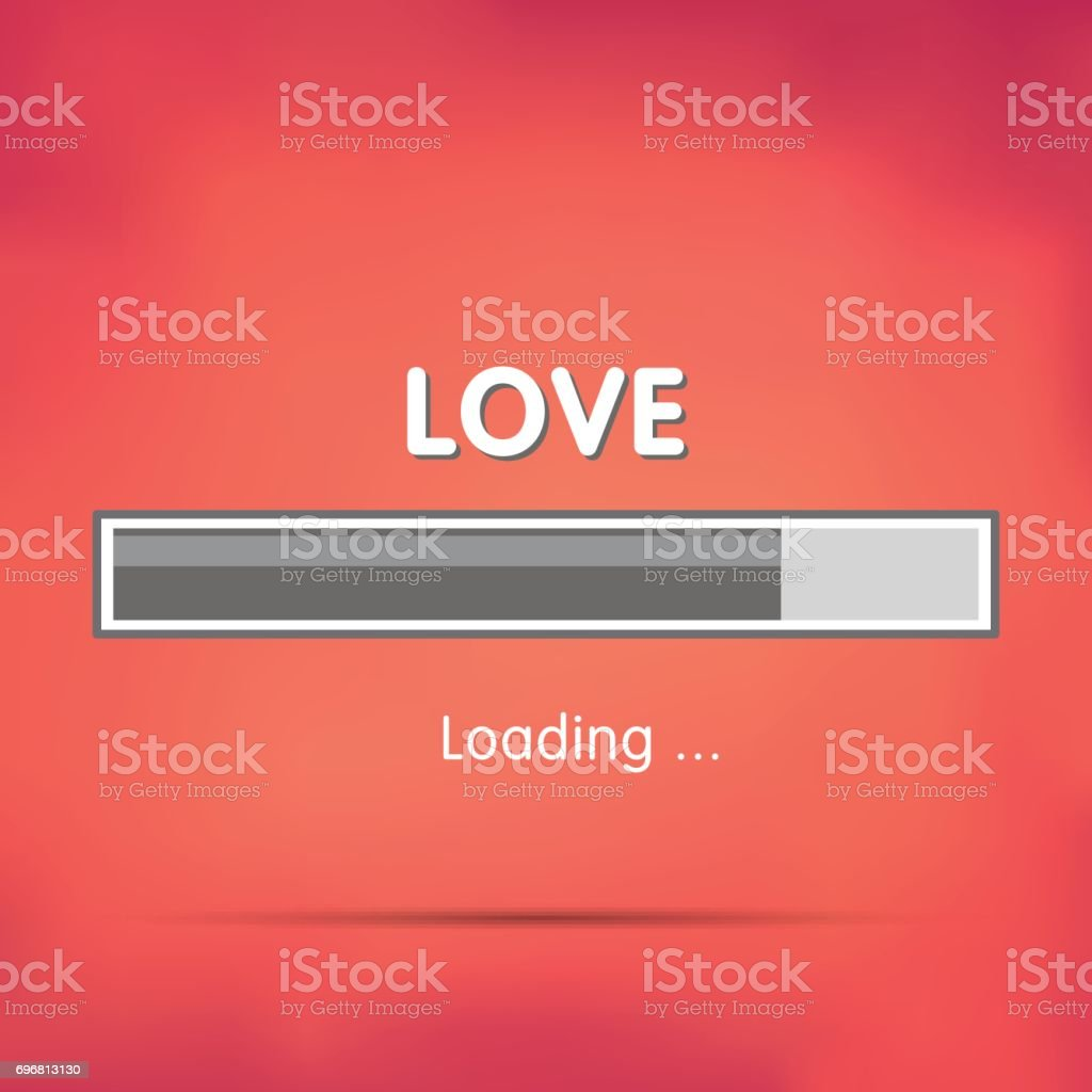 Loading love vector art illustration