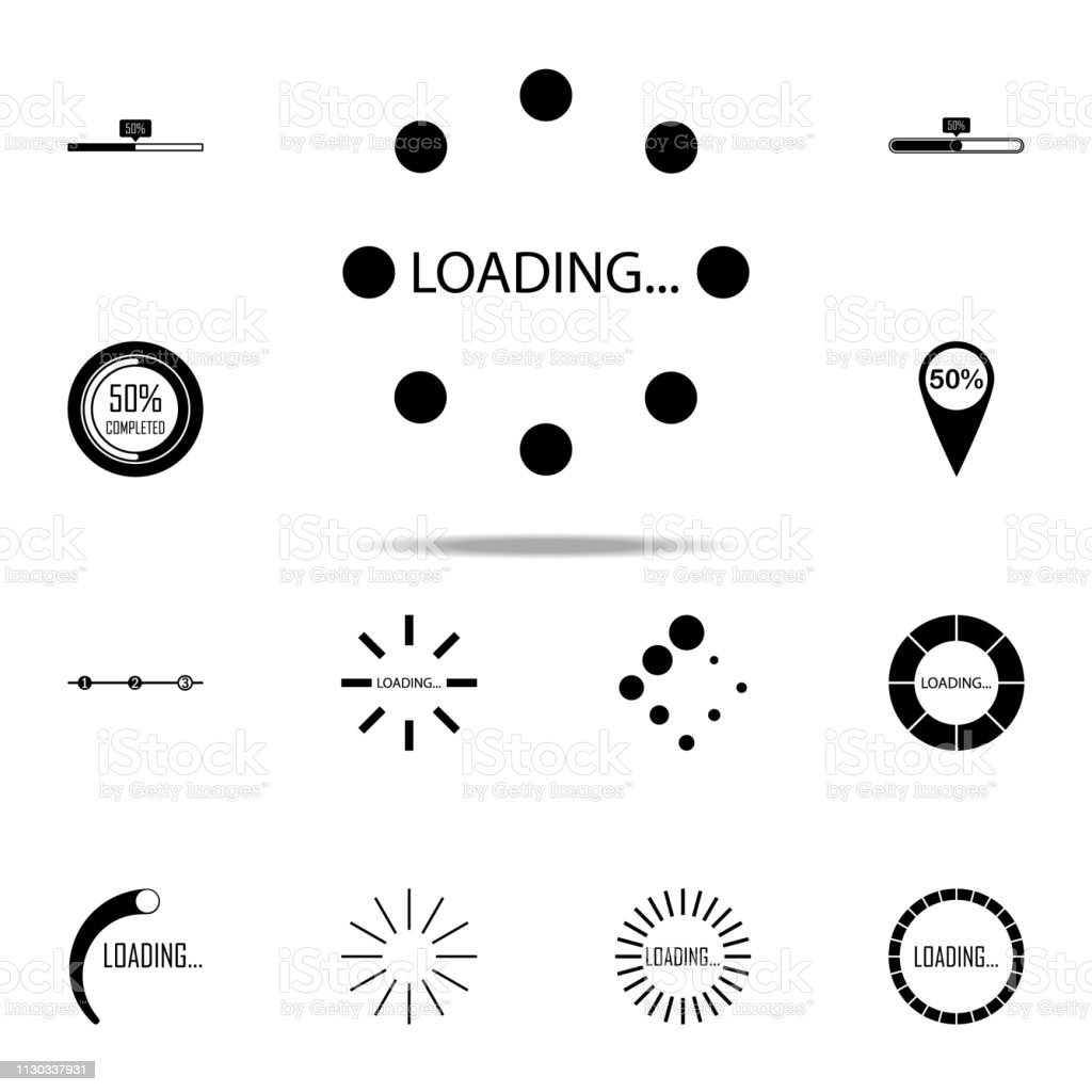 loading points in round icon. Loader icons universal set for web and...