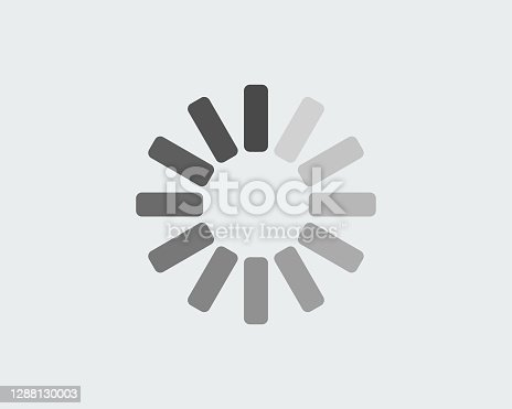 istock Loading progress circle in black and white 1288130003