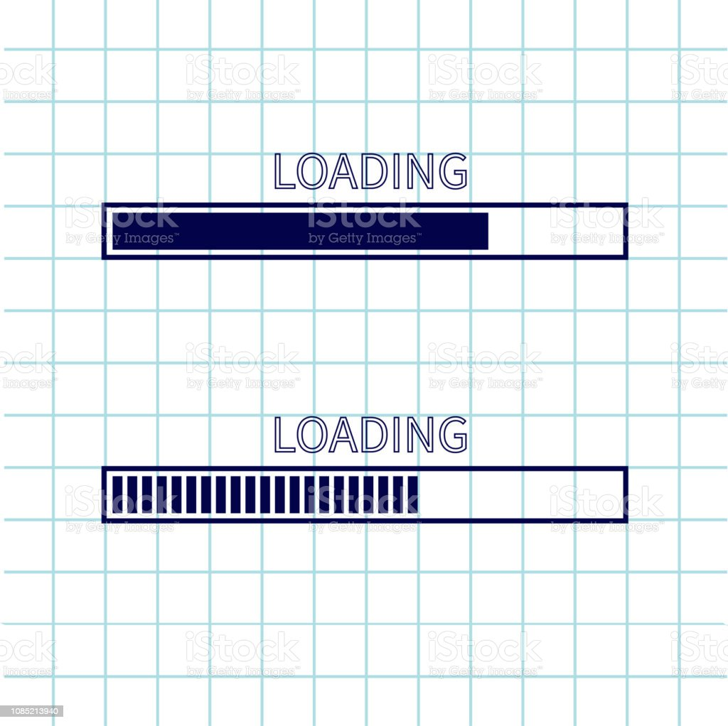 Loading Progress Status Bar Icon Set Web Design App Download Timer