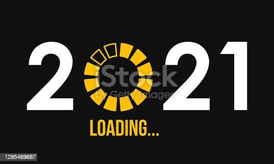 istock 2021 loading round progress, vector illustration 1285469687