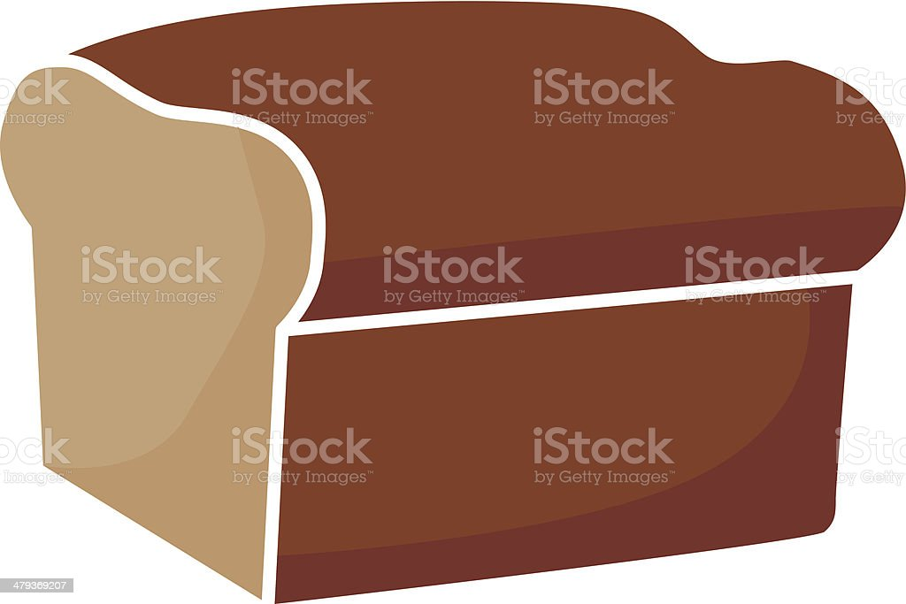 loaf of bread vector art illustration