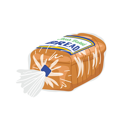 Loaf Of Sliced Bread In A Plastic Wrapper