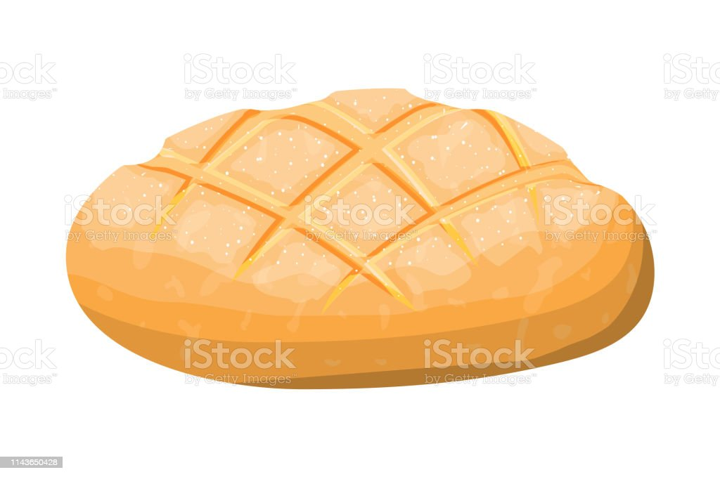 Loaf of wheat toast bread - Royalty-free Baguette stock vector
