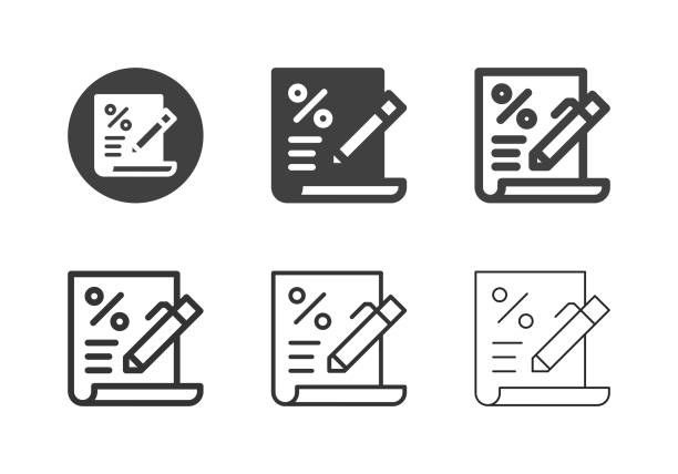 Loan Agreement Icons - Multi Series vector art illustration
