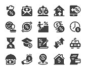 istock Loan and Interest - Icons 1160698791