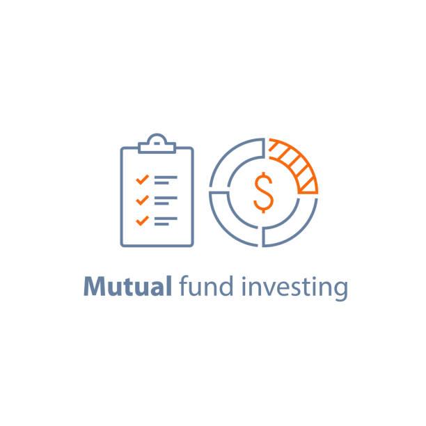 ilustrações, clipart, desenhos animados e ícones de aprovação, serviço de contabilidade, gestão de fundos de investimento, investimento a longo prazo, segurança financeira, análise de mercado de empréstimo - capitel