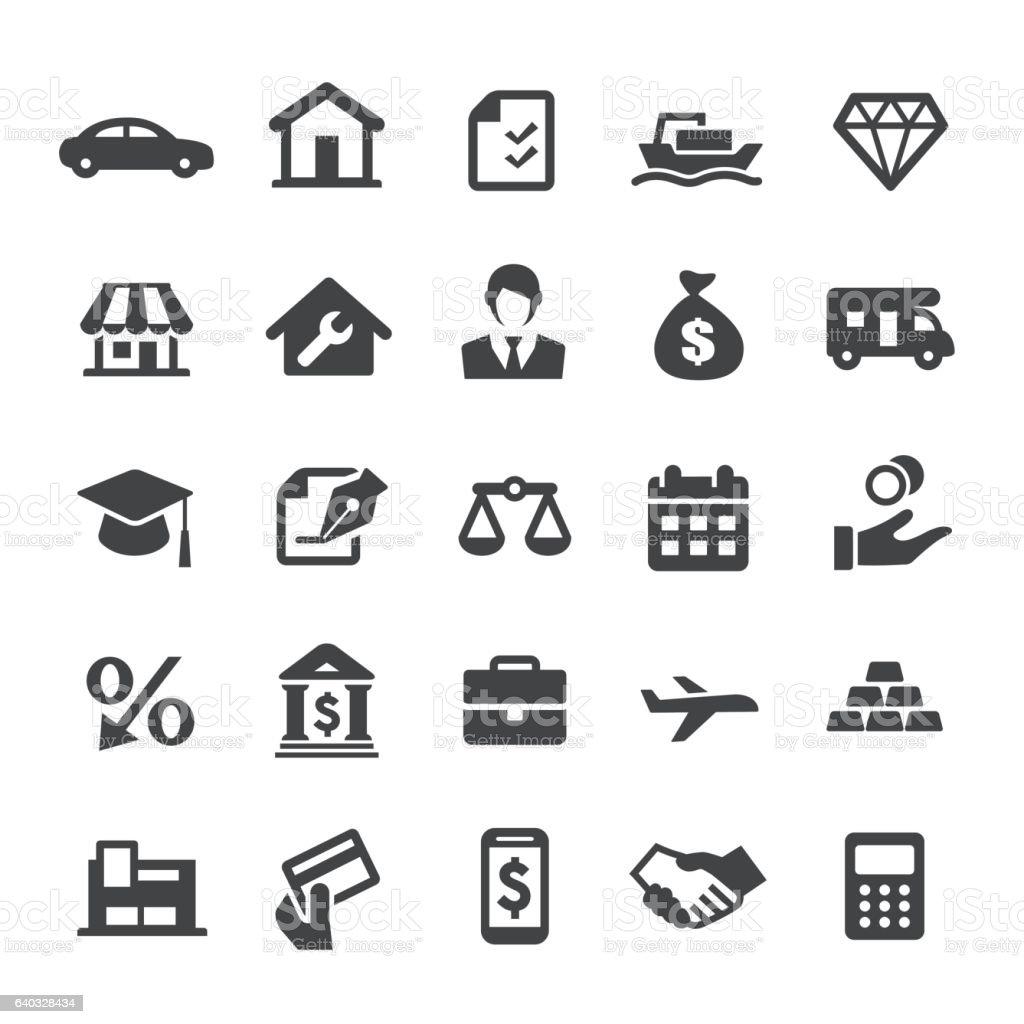 Loan Icons - Smart Series vector art illustration