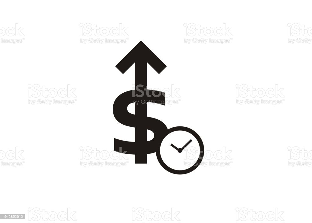 loan interest simple icon stock vector art more images of arrow