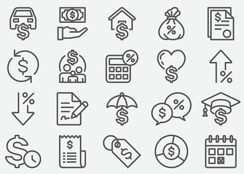 Loan Line Icons