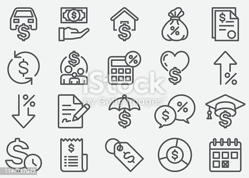 Loan Line Icons