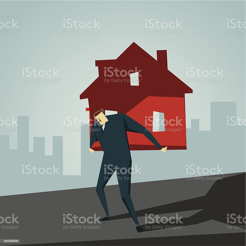 Loan vector art illustration
