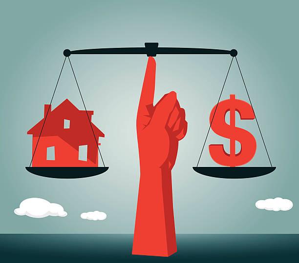 Loan,Investment,Dollar Sign, House,Real Estate,Dollar vector art illustration
