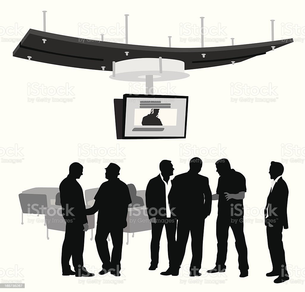 Lobby Talk Vector Silhouette royalty-free stock vector art