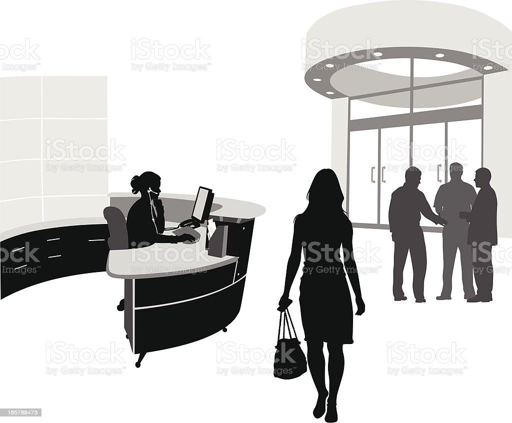 Lobby Vector Silhouette vector art illustration