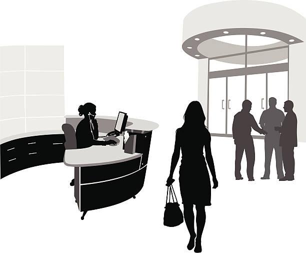 der lobby - rezeptionseingang stock-grafiken, -clipart, -cartoons und -symbole