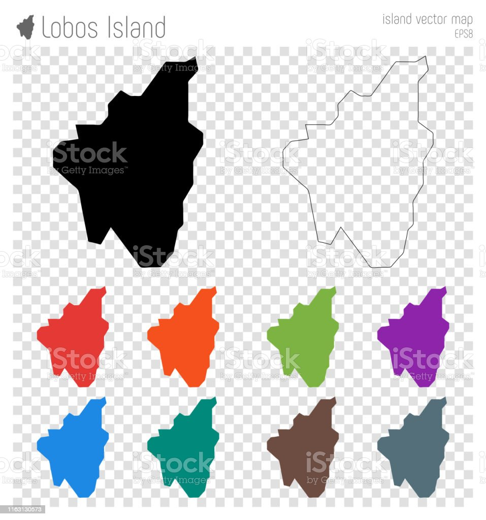 Isla De Lobos Mapa.Ilustracion De Mapa Muy Detallado De La Isla De Lobos Y Mas
