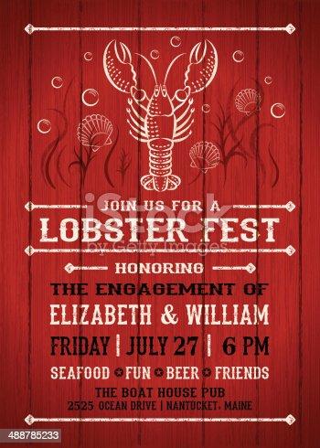 istock Lobster Fest Invitation 488785233