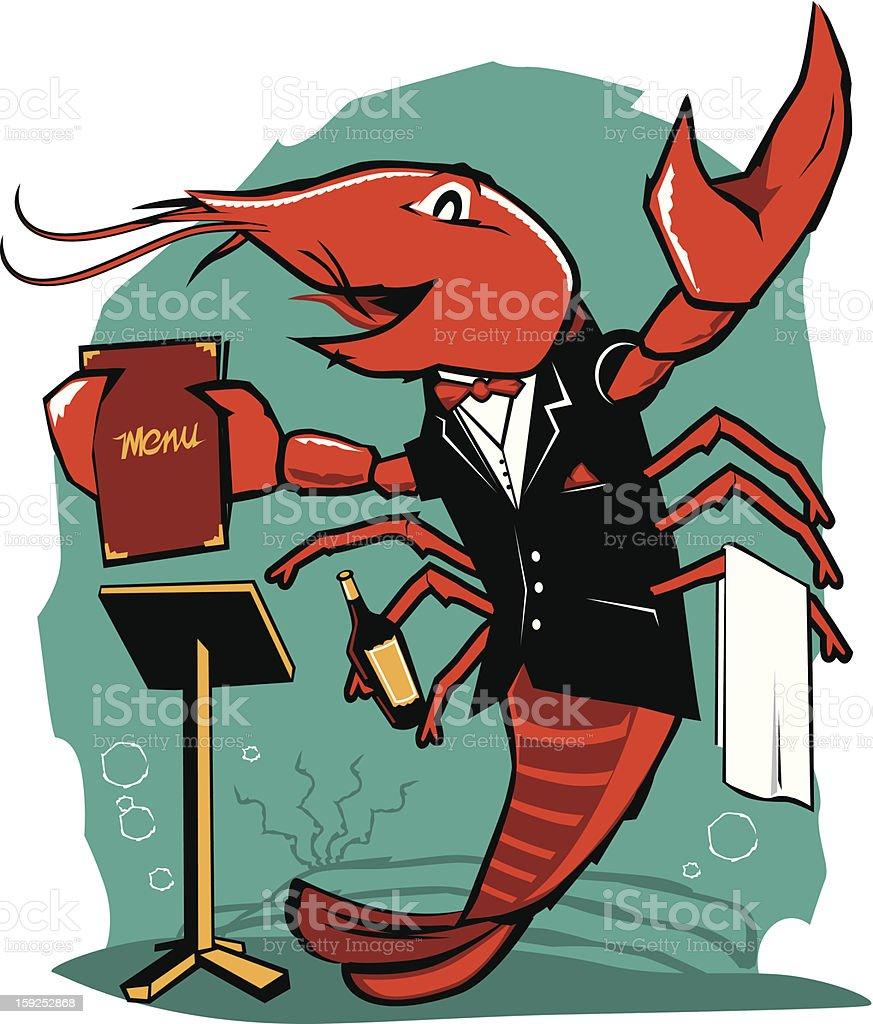 Lobster Maitre D royalty-free lobster maitre d stock vector art & more images of bottle