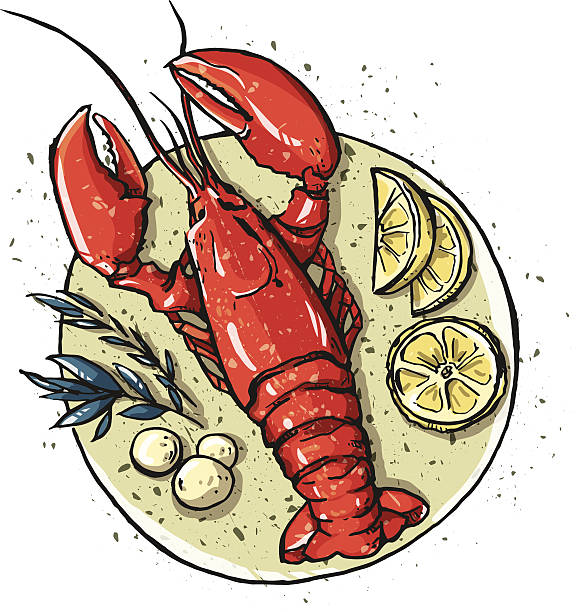 Royalty Free Seafood Platter Clip Art, Vector Images ...