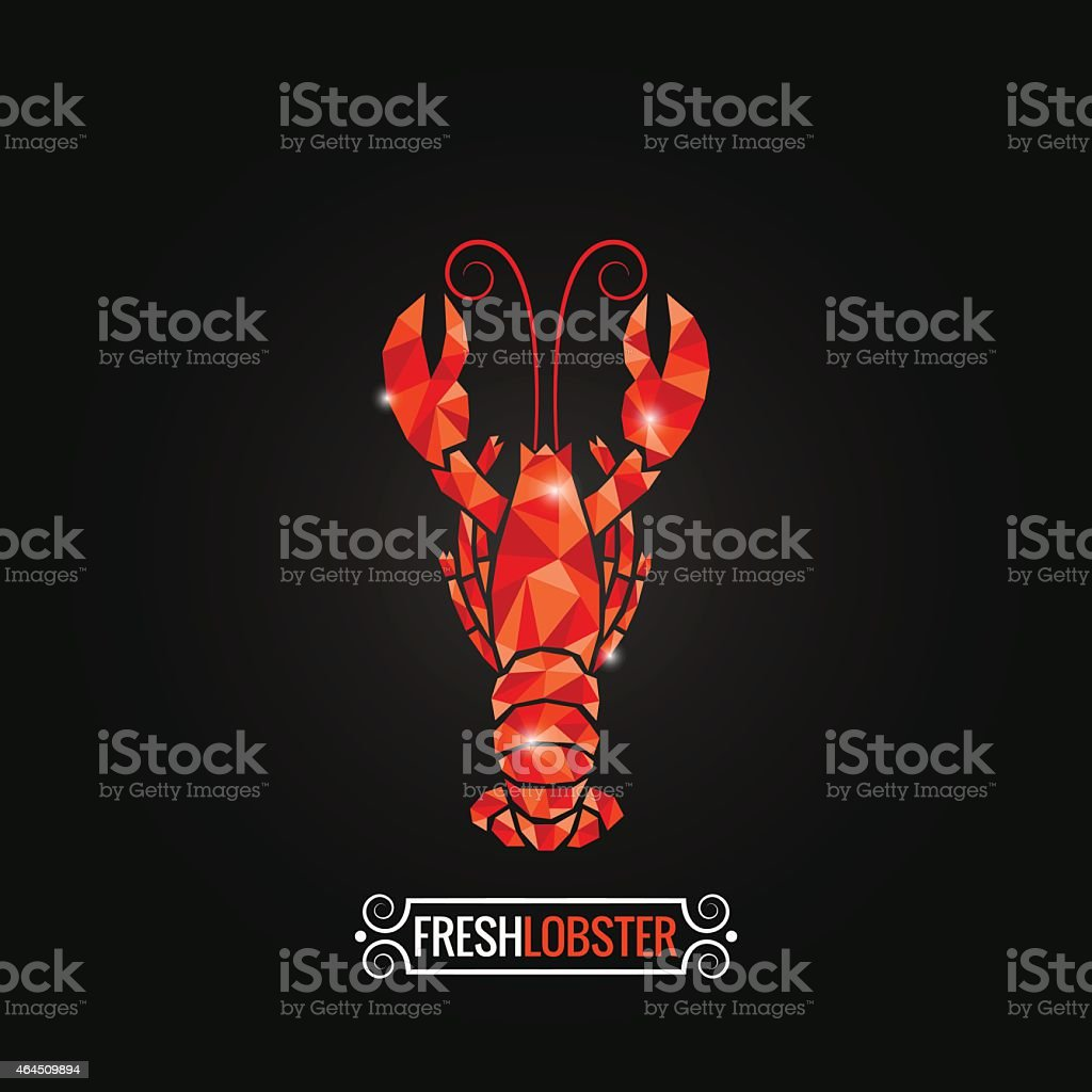 lobster poly design background vector art illustration