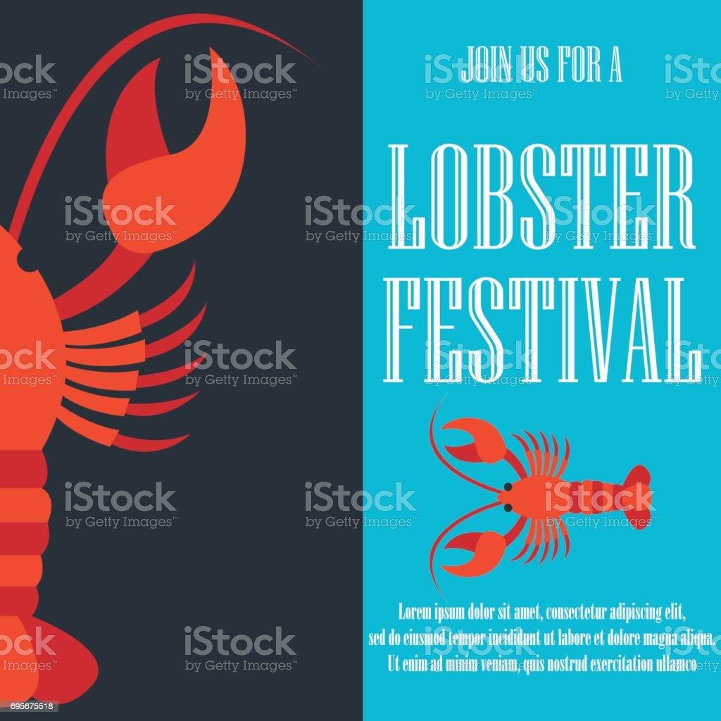 lobster poster for lobster festival . vector illustration vector art illustration