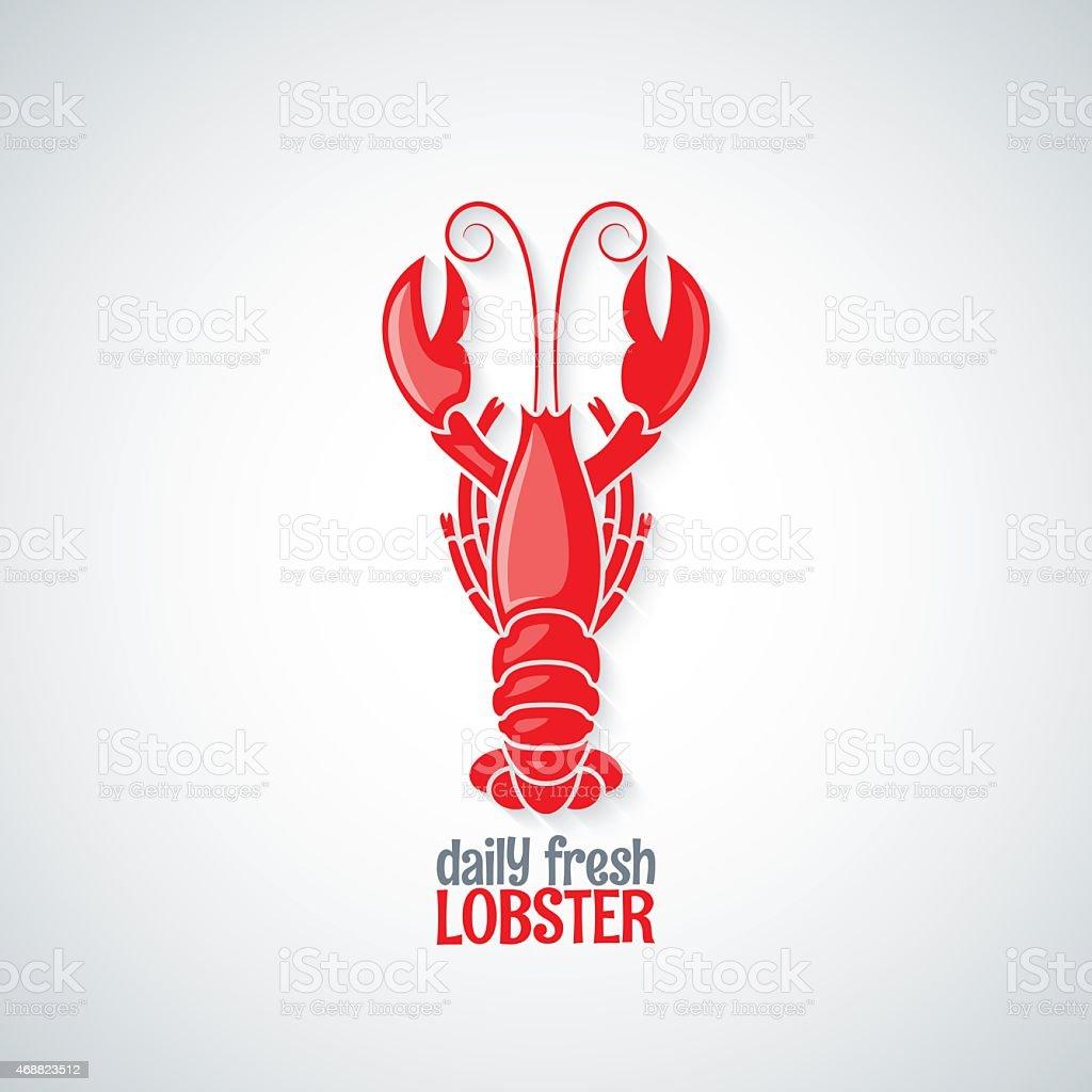 lobster seafood menu background vector art illustration