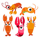 lobster vector collection design