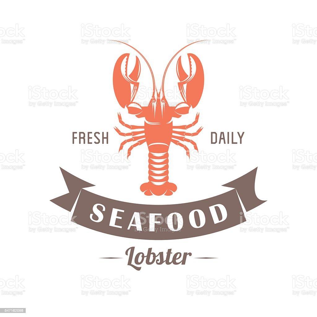 lobster vector emblem vector art illustration