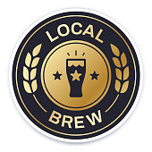 Local brew symbol badge with space for your copy.