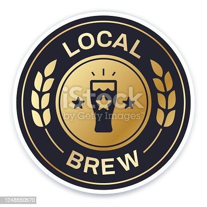 istock Local Brew Badge 1248550570