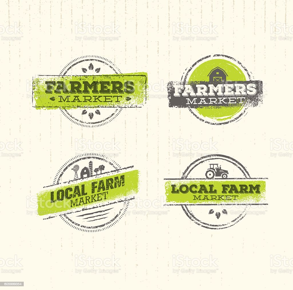 Local Farm Market vector art illustration