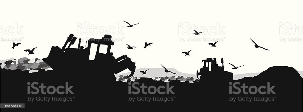 Local Garbage Vector Silhouette royalty-free local garbage vector silhouette stock vector art & more images of black color