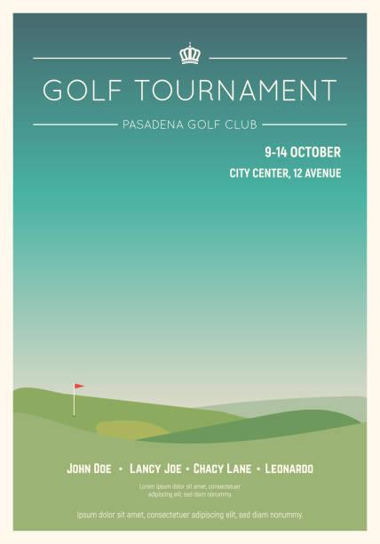 地元のゴルフ トーナメント ポスター - ゴルフ点のイラスト素材/クリップアート素材/マンガ素材/アイコン素材